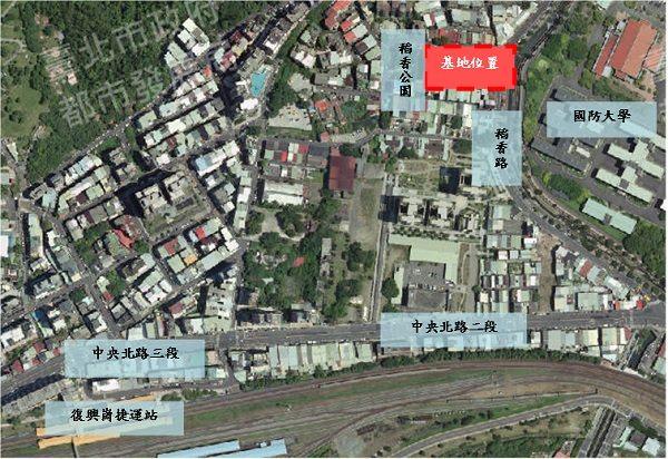 「臺北市北投區稻香市場拆除重建工程」基地位置