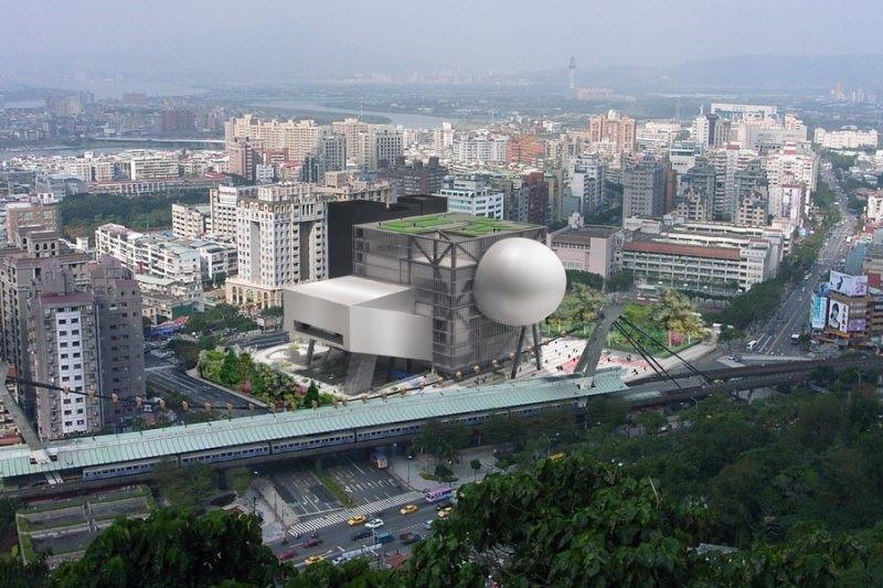 建築模擬鳥瞰圖