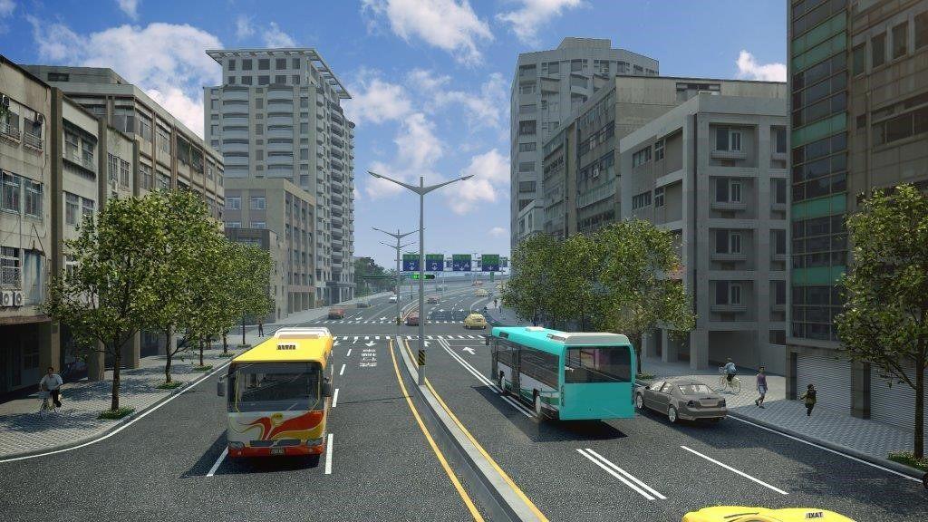 臺北市重慶南路高架橋拆除後恢復為平面道路模擬示意圖2
