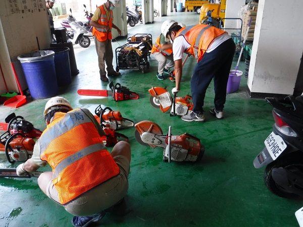 救災機具清點、保養