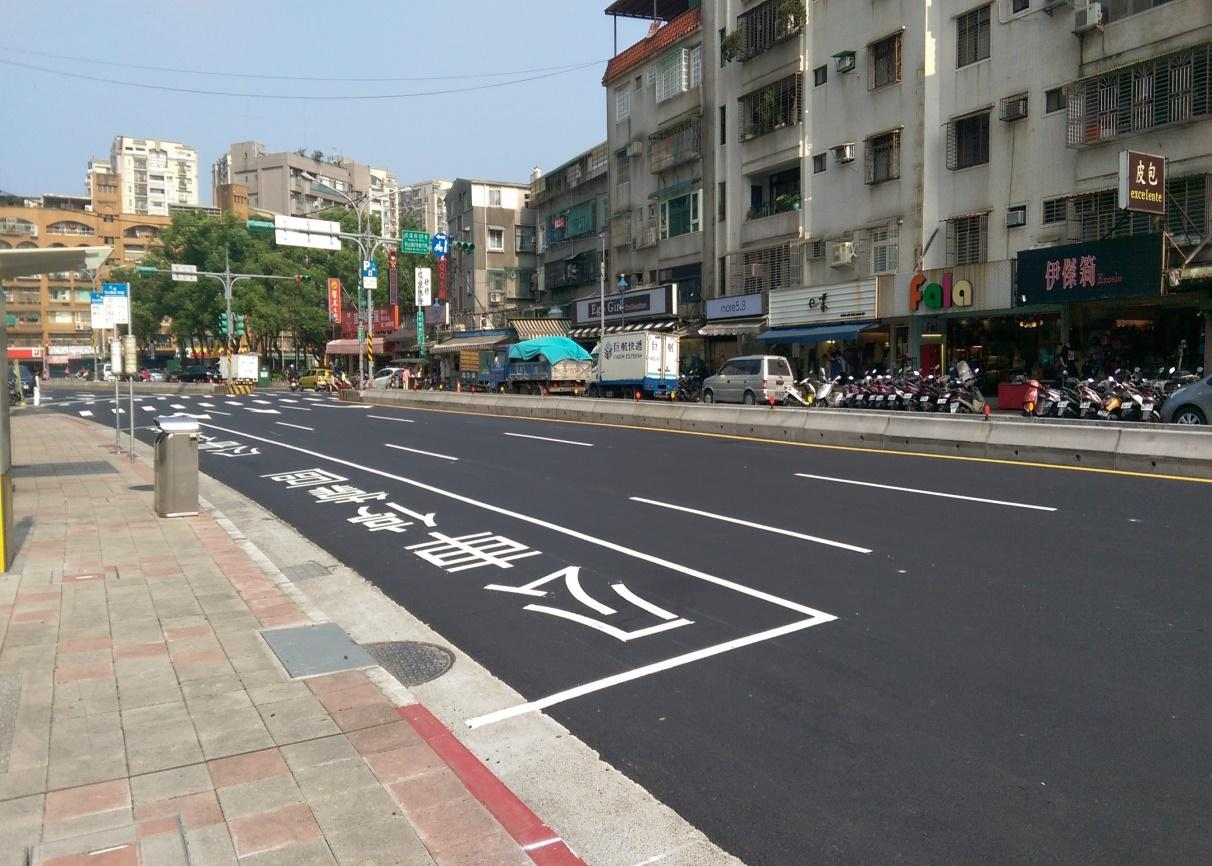 Updates, markings and parking space redrawing on Section1 Hankou Street