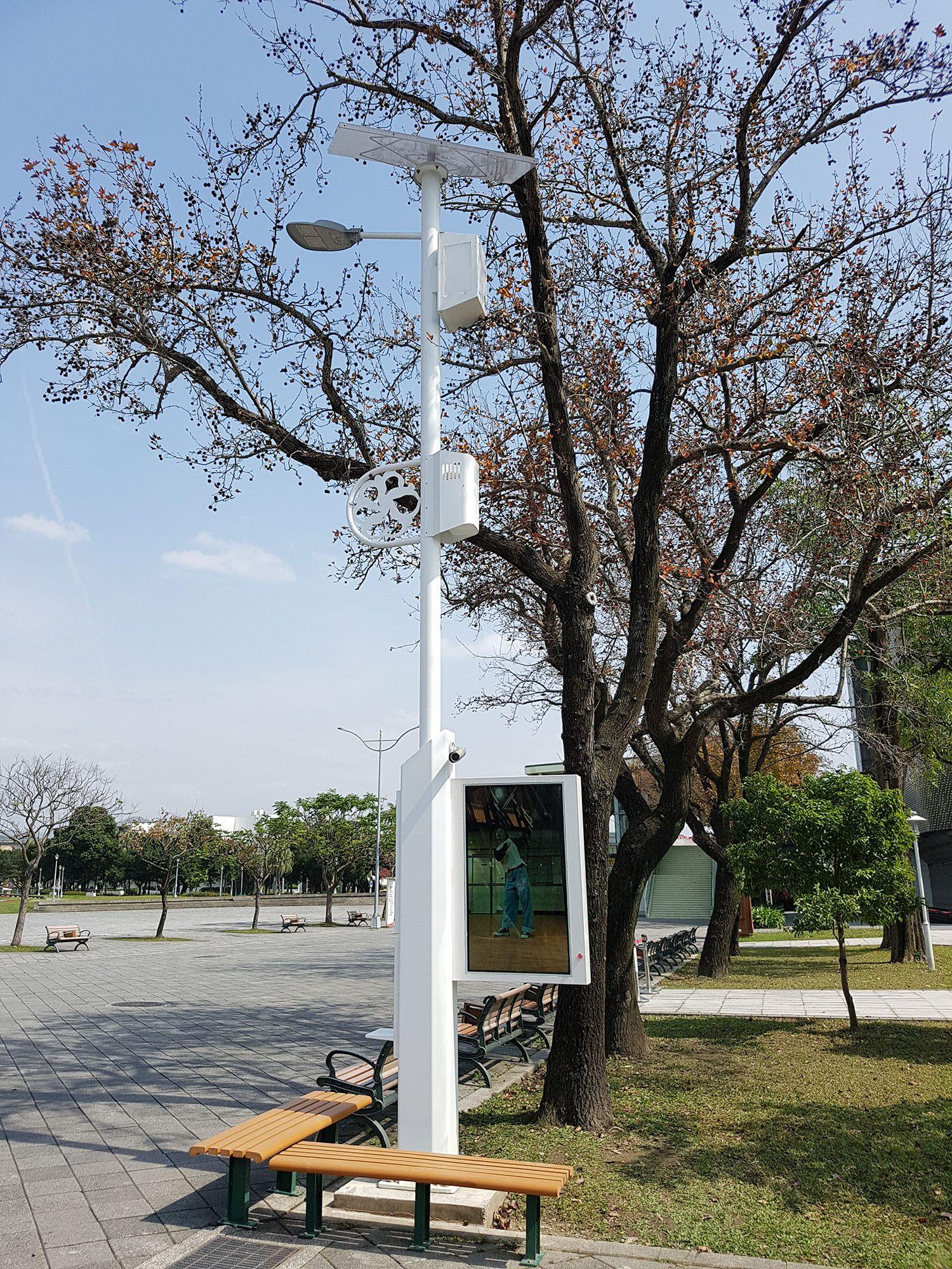 圖3.花博圓山公園智慧路燈