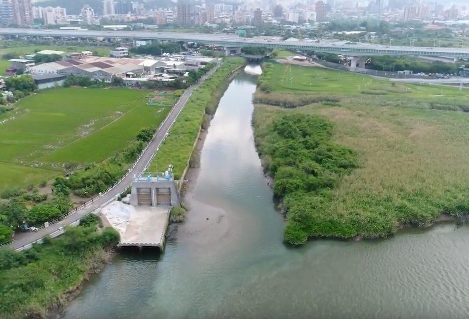 磺港溪下游現況照(基隆河匯流口)