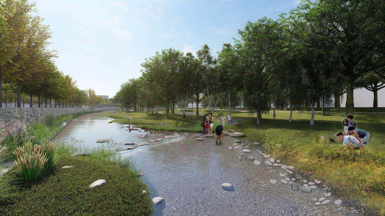 圖14-磺港溪未來願景圖(生態滯洪池)