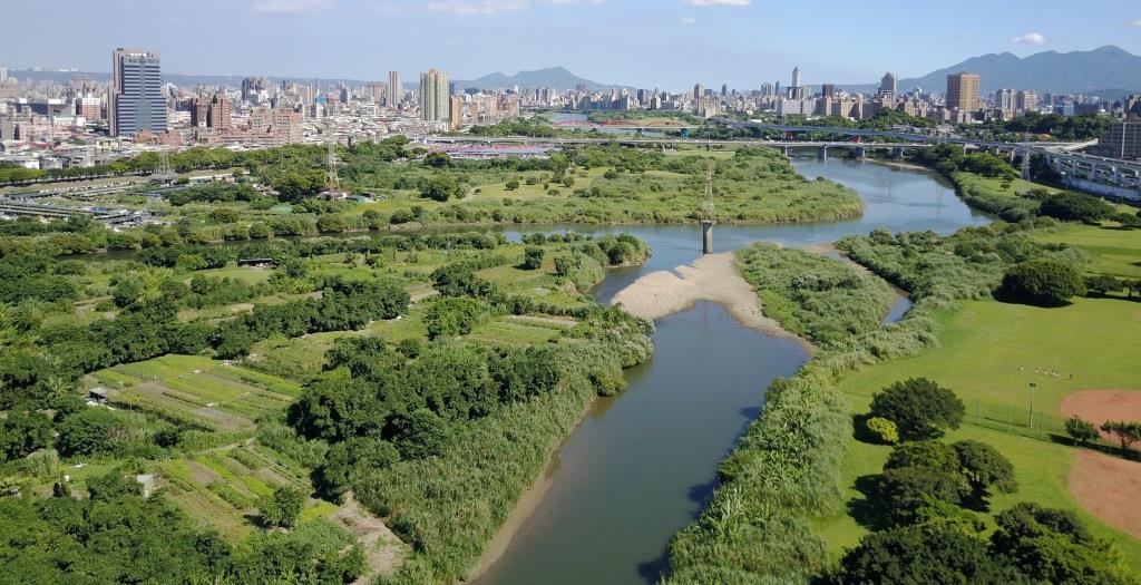 景美溪空拍圖