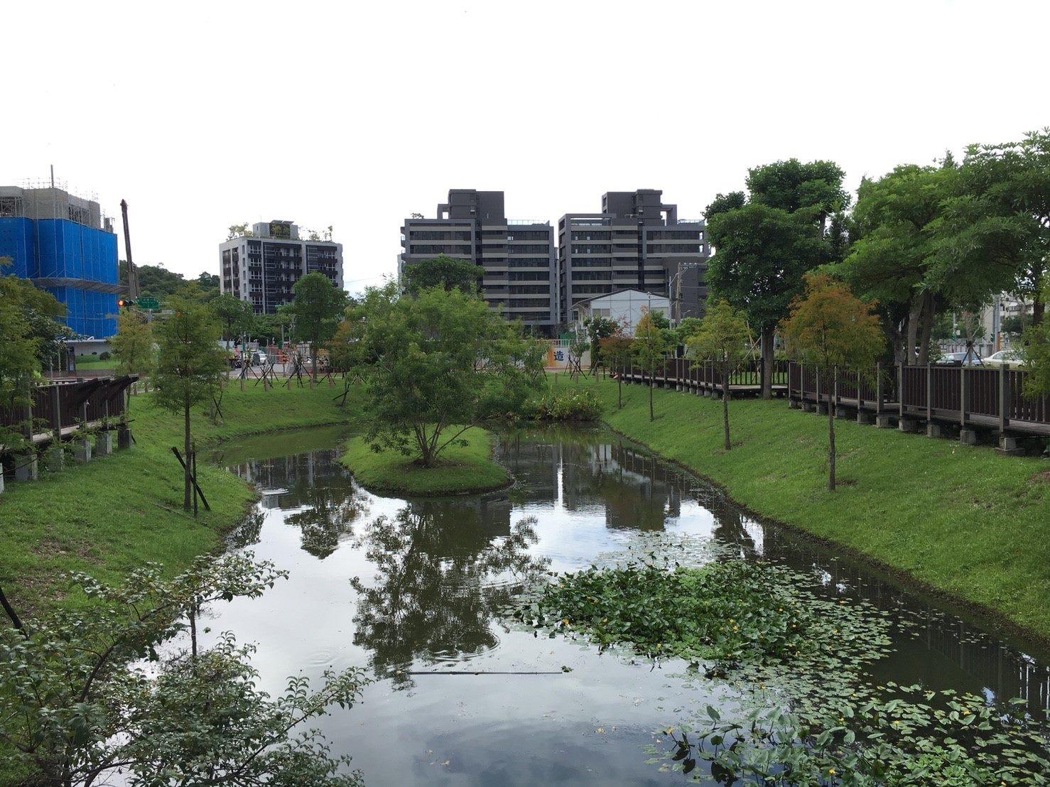 磺港溪中游現況照(奇岩公園生態池)