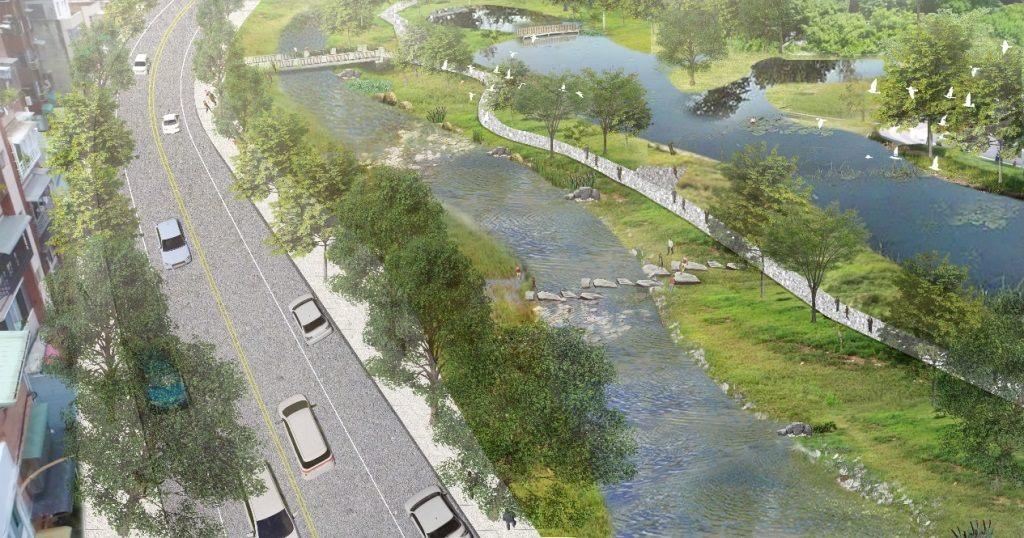磺港溪中游段未來願景圖