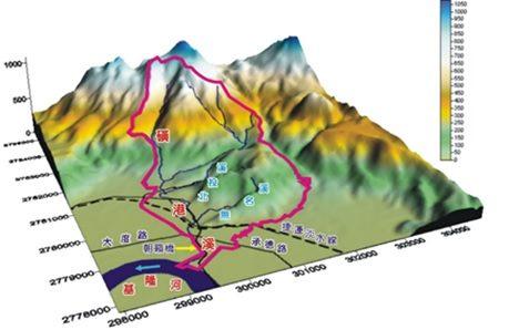 圖3-磺港溪集水區地形概