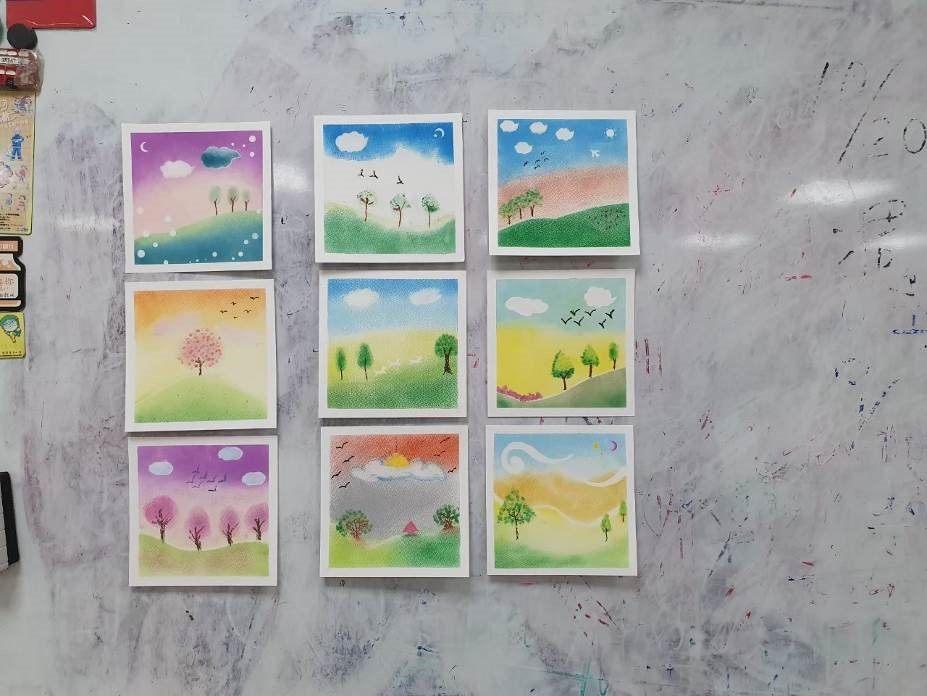 藉由和諧粉彩,讓家長有機會沉澱自己並畫出心中的盼望