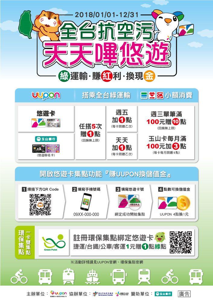 綠運輸集點活動海報