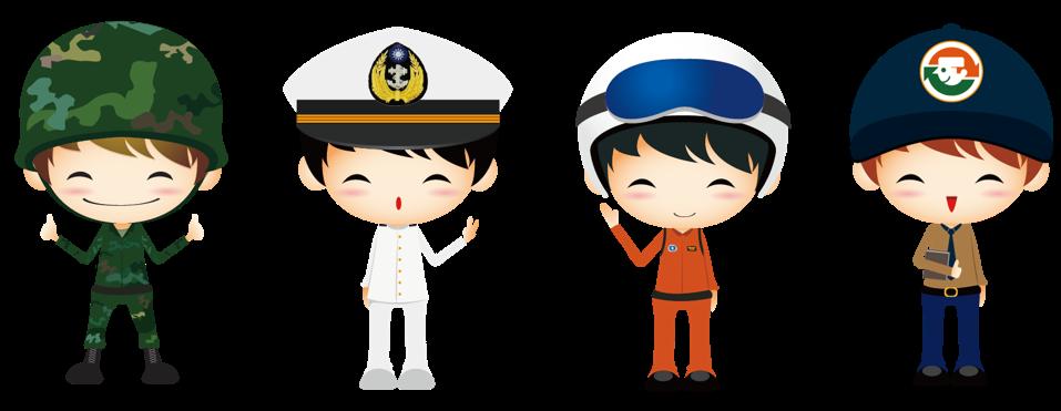 陸海空替軍種卡通圖示