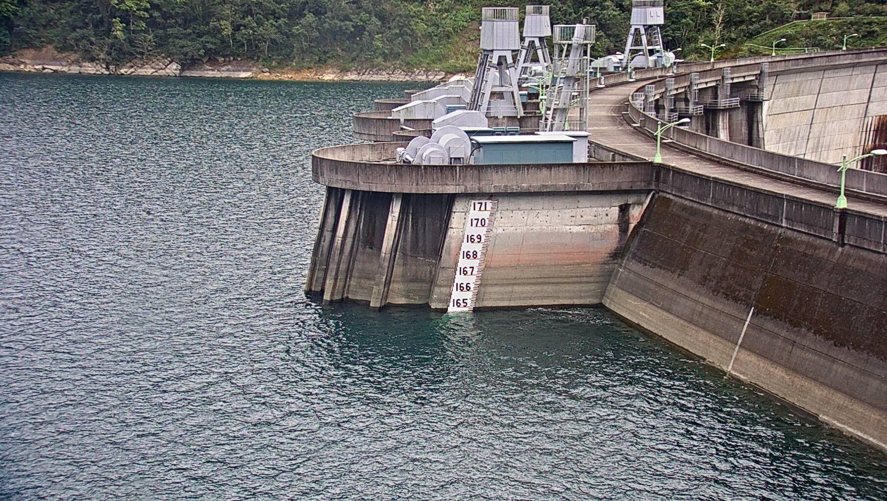 附圖:翡翠水庫108年2月12日水位現況照片