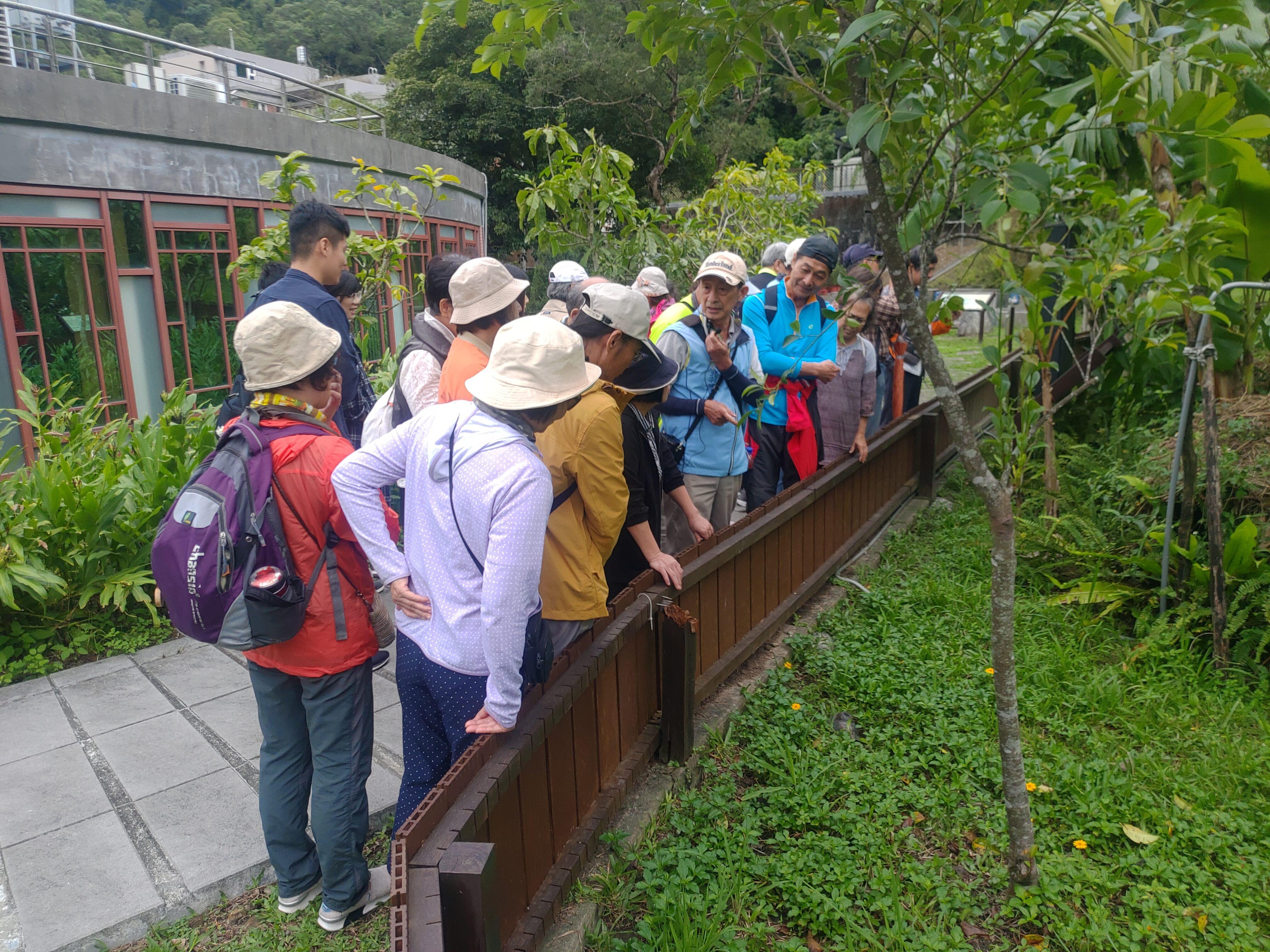 圖片說明:志工老師於龜園為民眾介紹食蛇龜