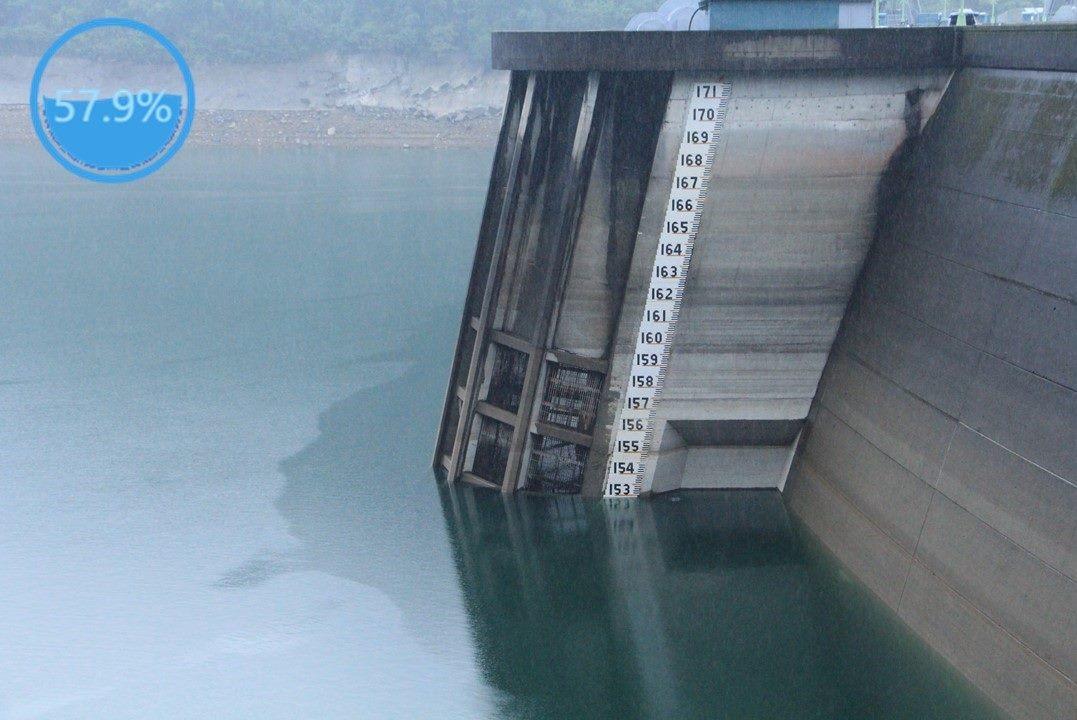 附圖: 翡翠水庫109年10月16日水位現況照片