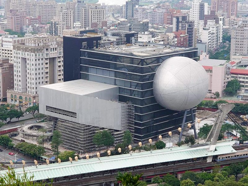 台北藝術中心空拍照