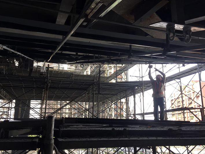 WT區電鋁板安裝作業