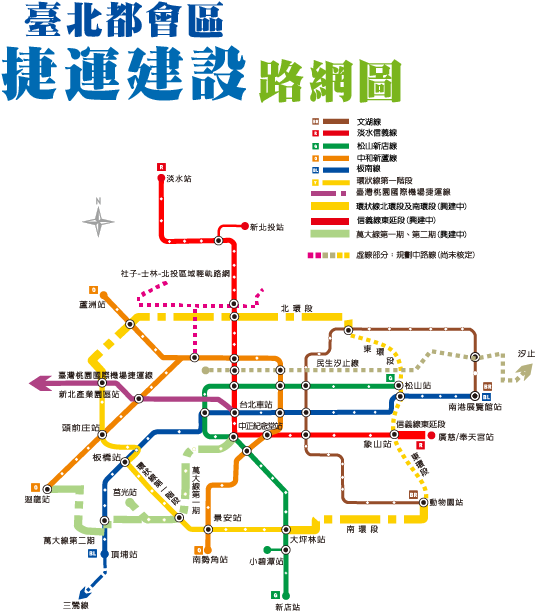 臺北捷運局路網圖