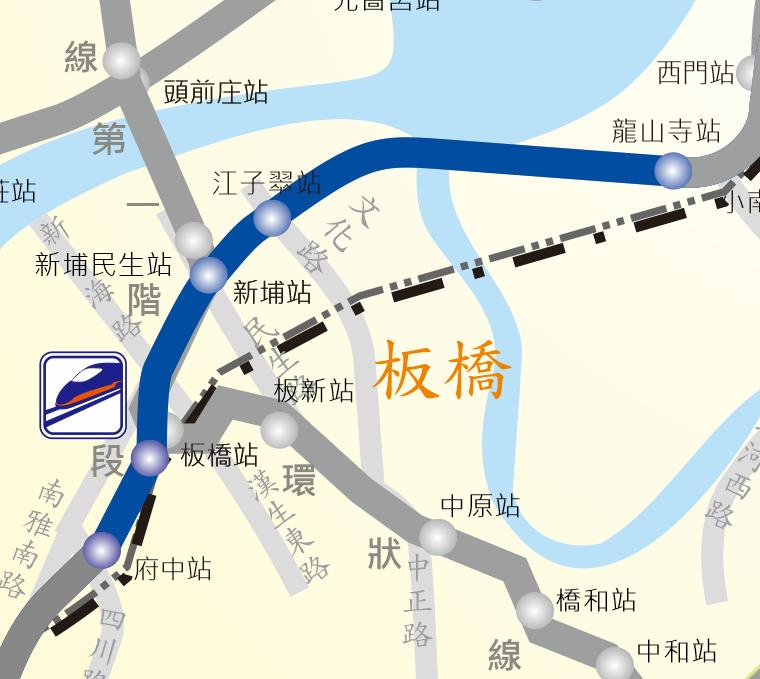 板橋線路網圖