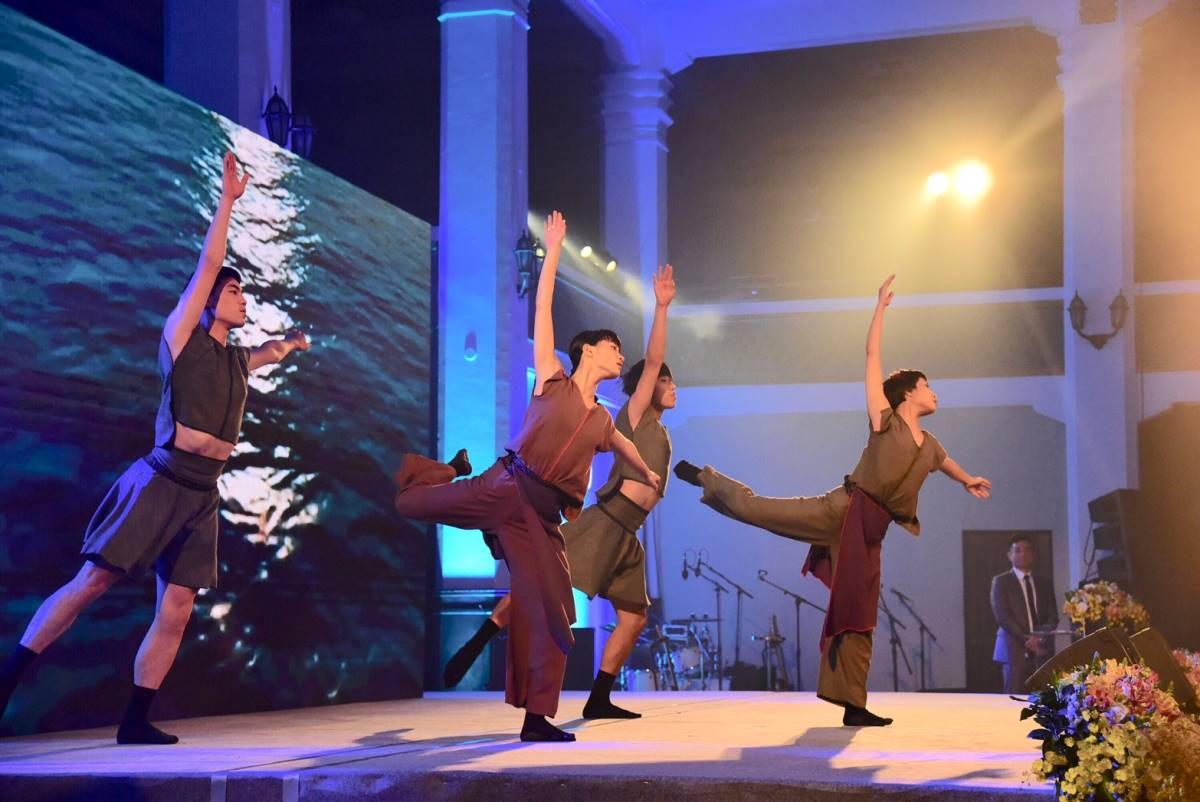 Dancers from the Dance Forum Taipei perform on stage at the awards ceremony on November 30.