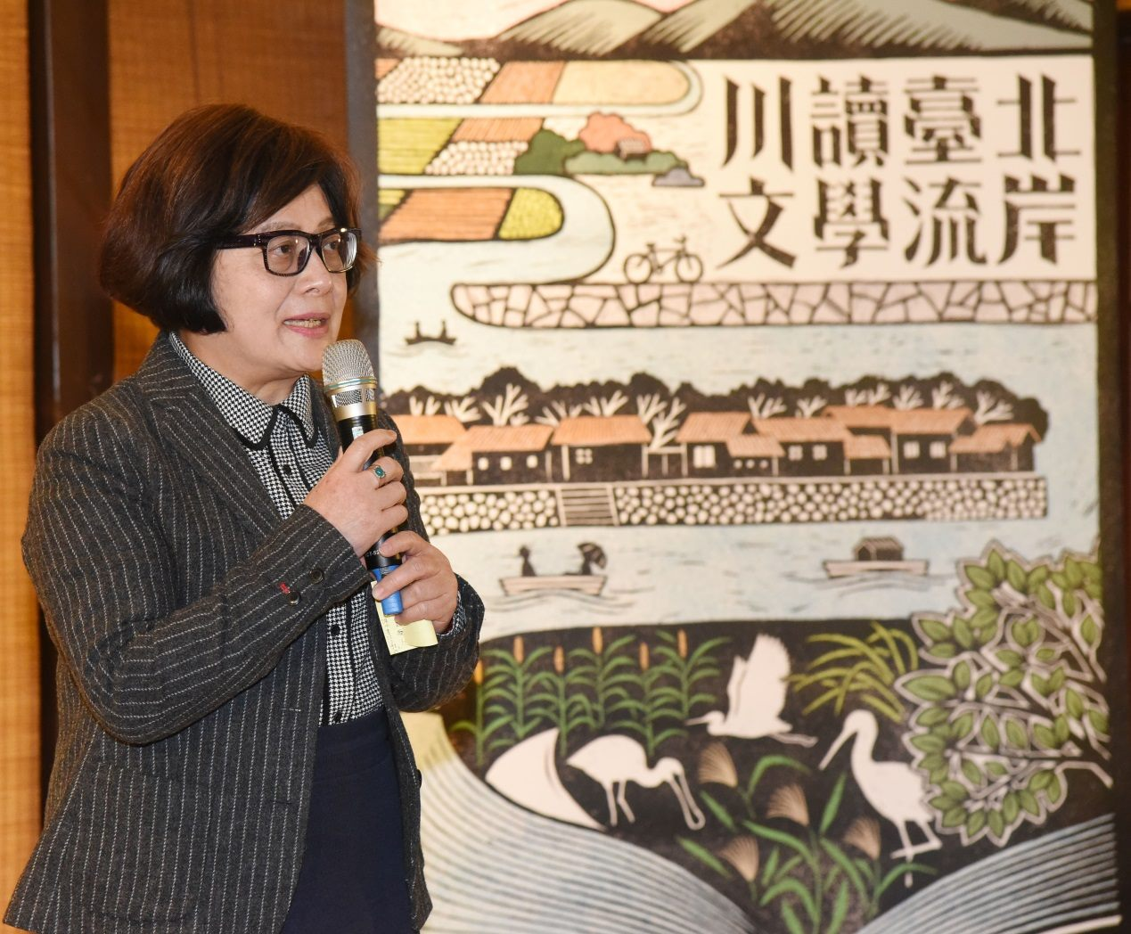 Feng De-bing, Chairwoman of Wen-Hsun Magazine and Taipei Literature Festival curator.