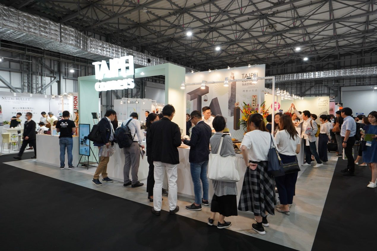 """On June 26, the Taipei booth """"TAIPEI corners"""" attracted many viewers."""