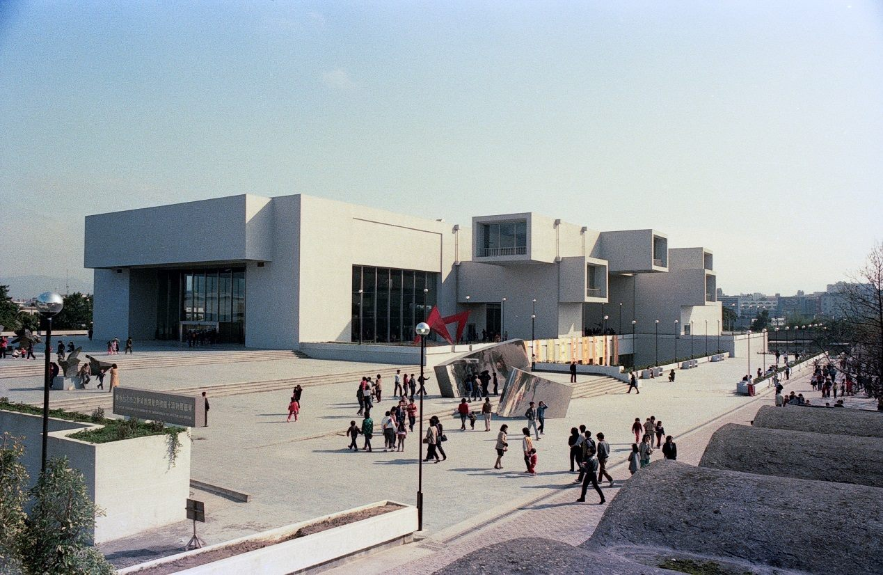 Taipei Fine Arts Museum opens its doors in 1983. Many people visit the first public museum in Taiwan.