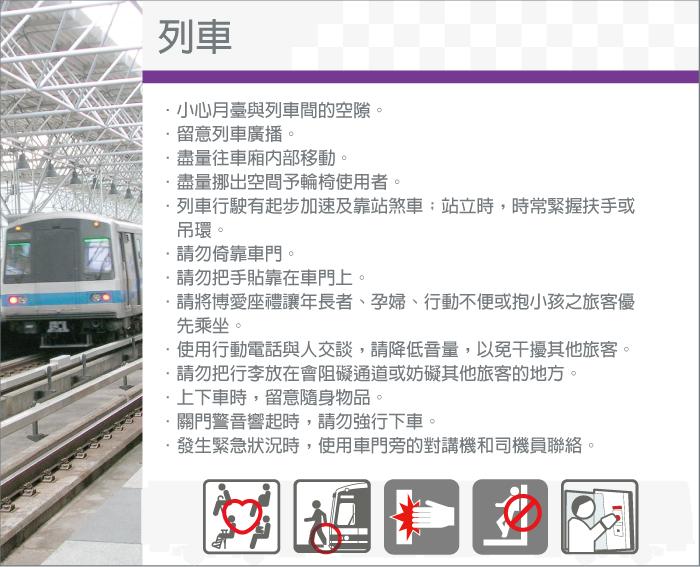 安全宣導-列車