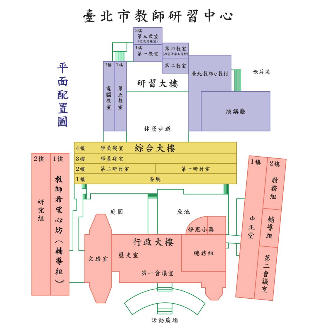 中心建物平面圖