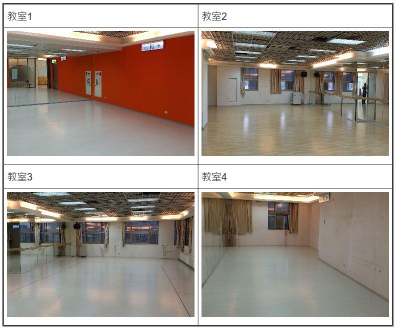 4樓舞蹈教室現場照(含教室1-4)