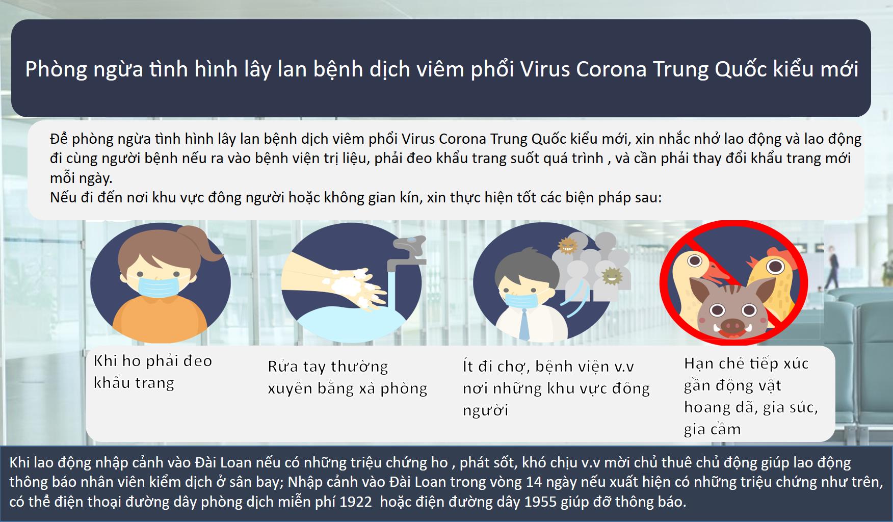 全面防疫!勞動部加強移工及雇主防疫宣導-越南文