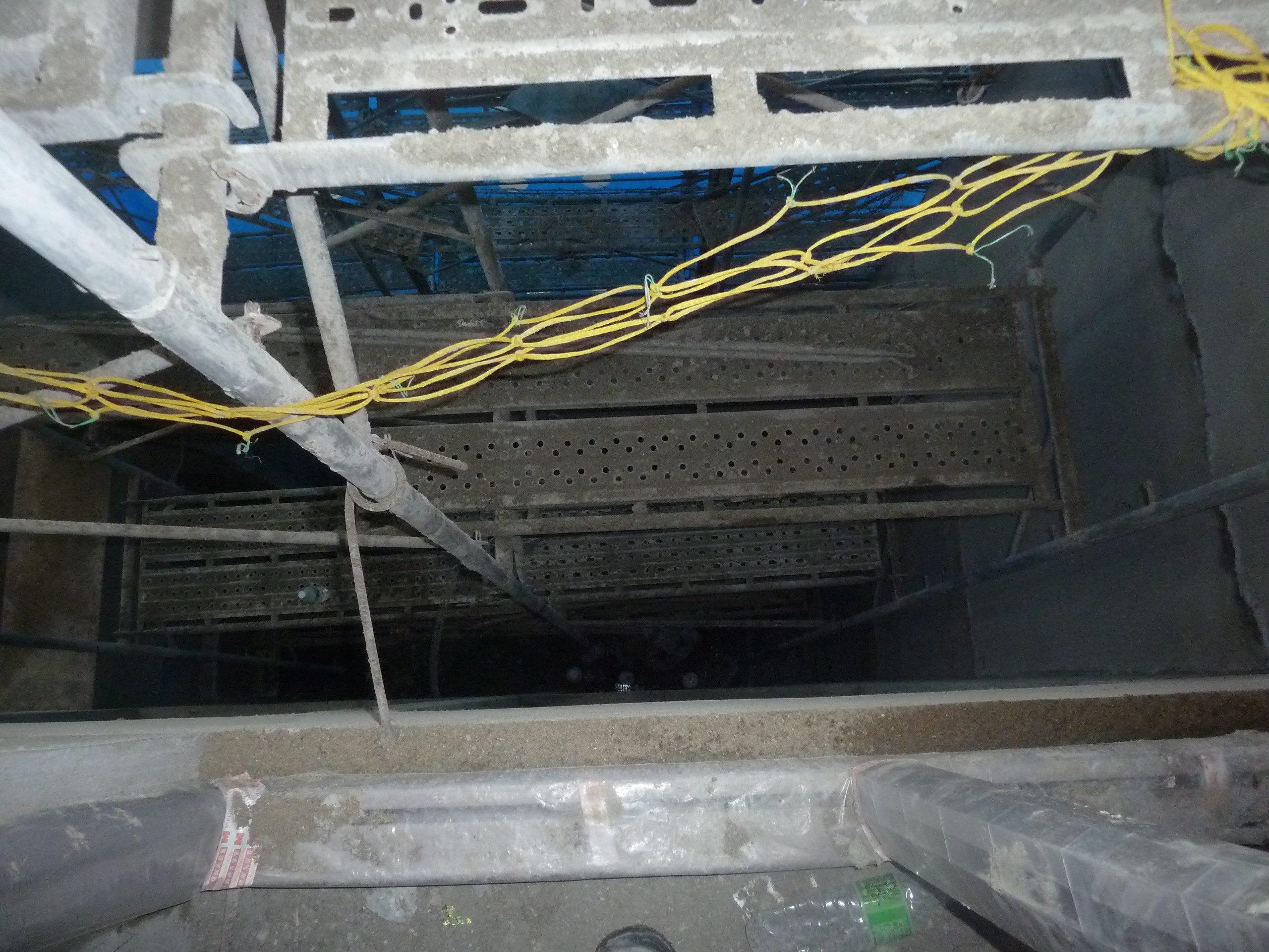 住宅新建工程外牆施工架開口未設防護設備