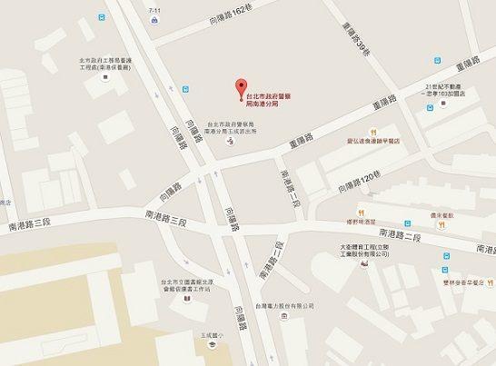 南港分局位置圖