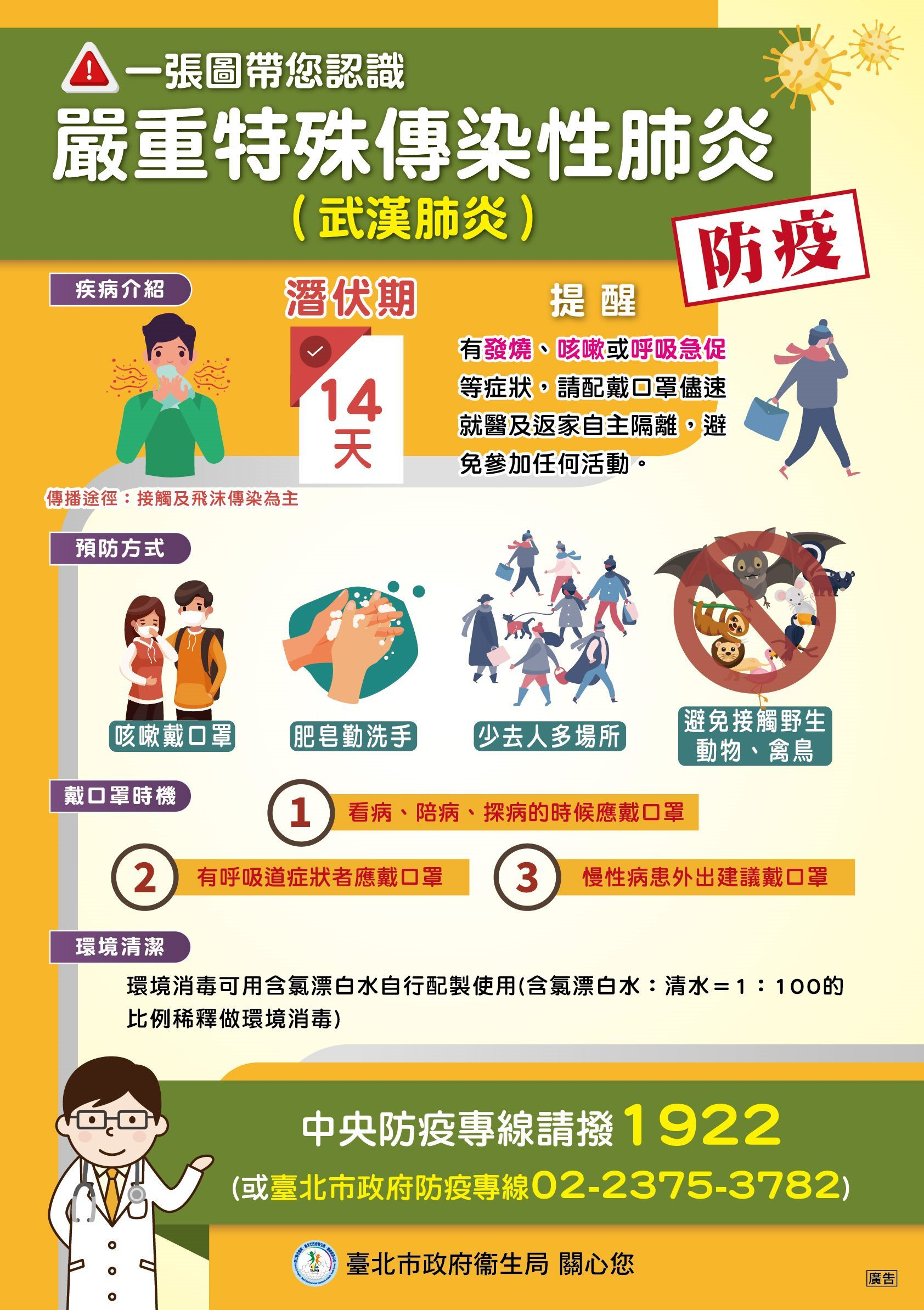 一張圖帶您認識嚴重特殊傳染性肺炎-多國語言版