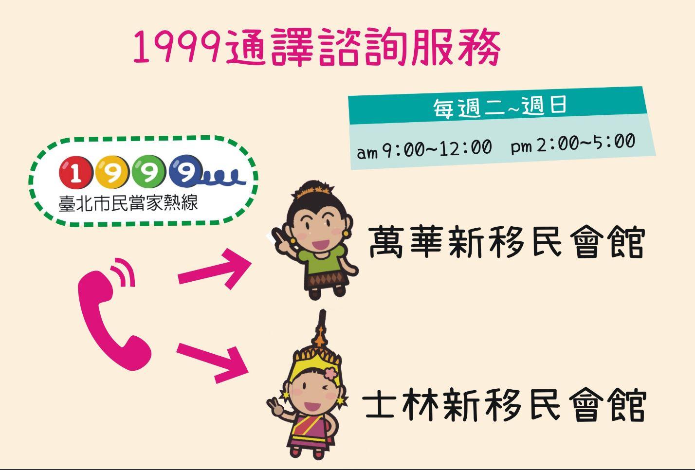 臺北市1999服務再升級:提供越、印、泰語諮詢服務
