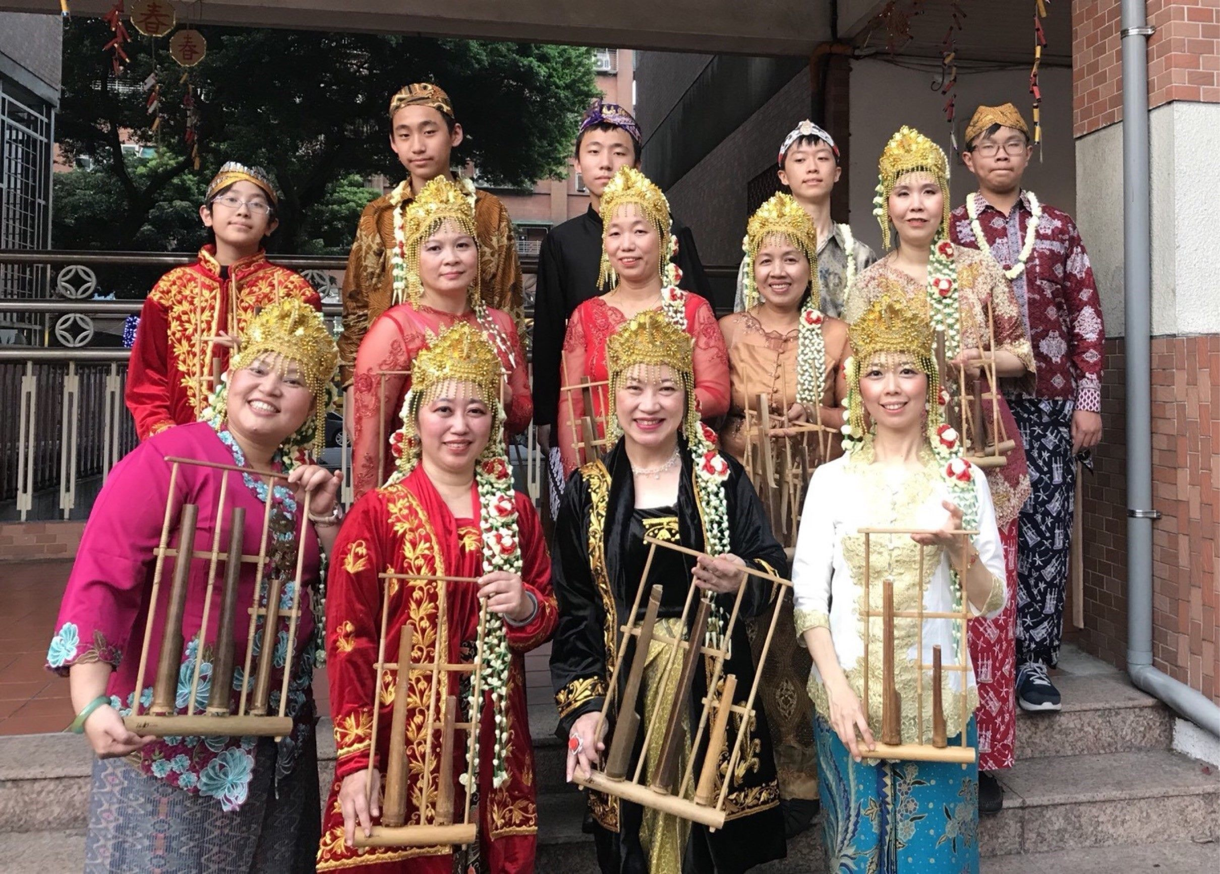 Gema Angklung photos group with Indonesian Traditional Music