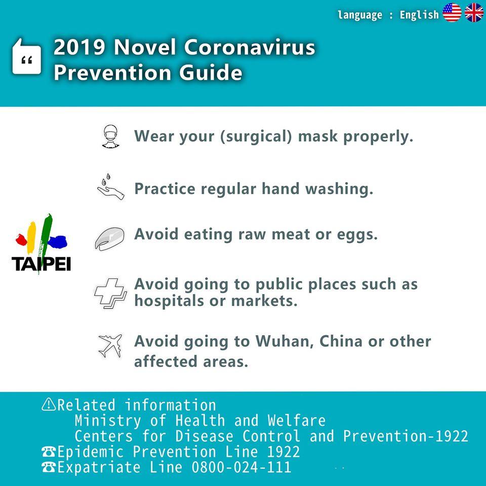 2019 novel cornavirus prevention guide
