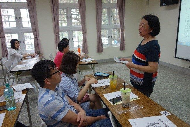 The teacher explaining the lesson