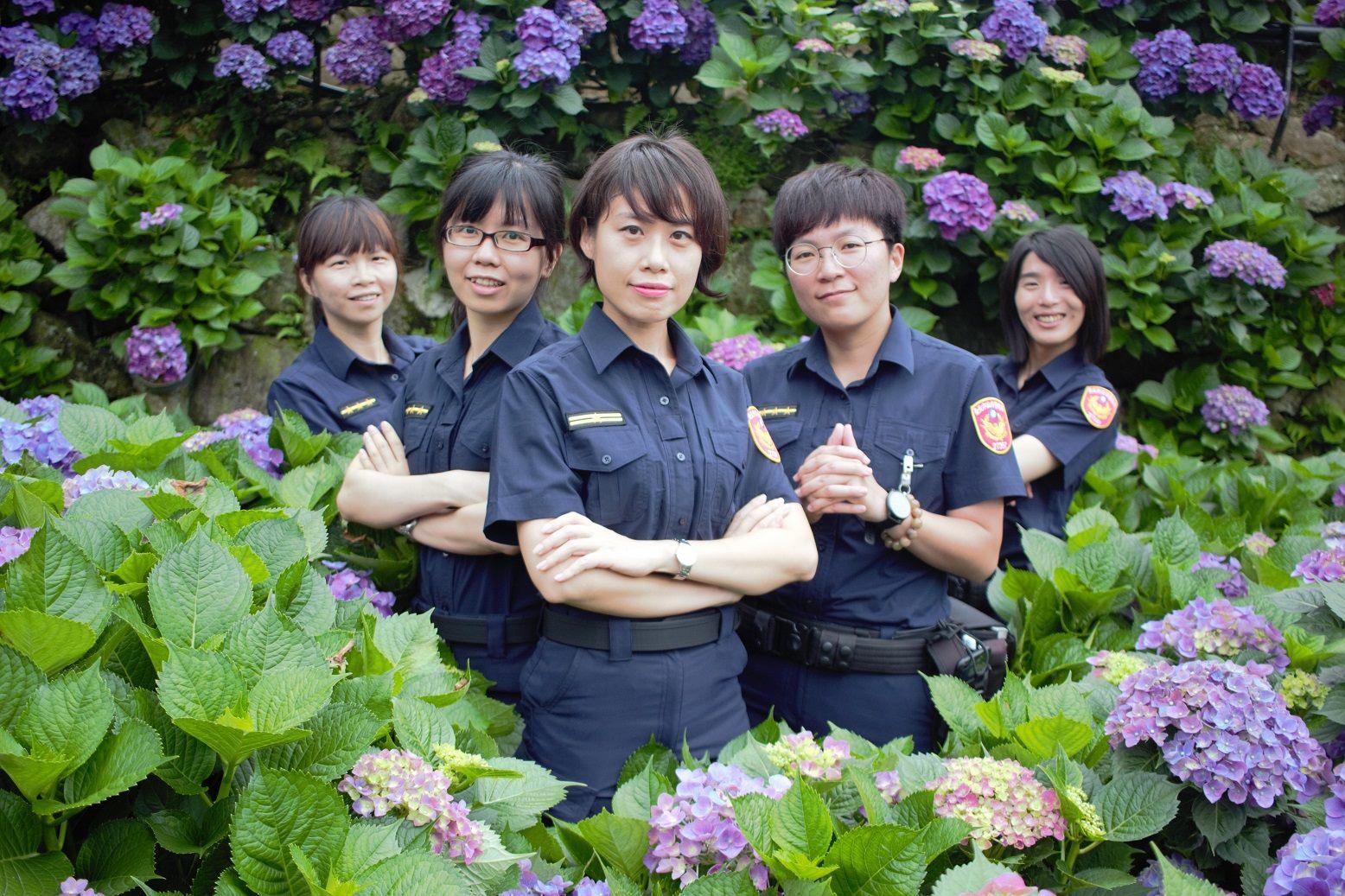北投分局賞繡球花健行活動