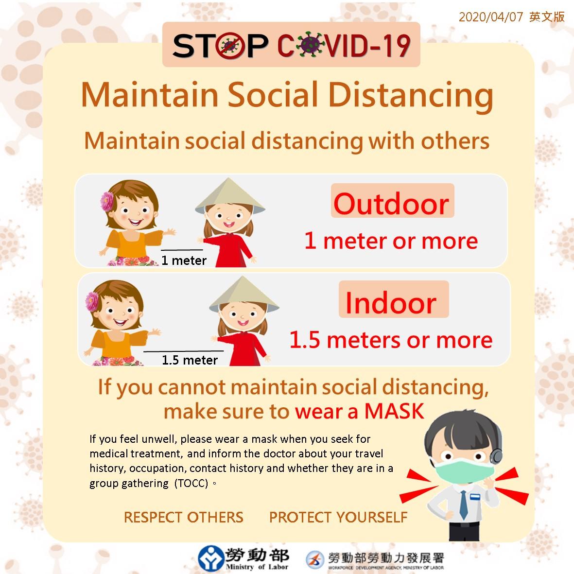 社会的距離の確保