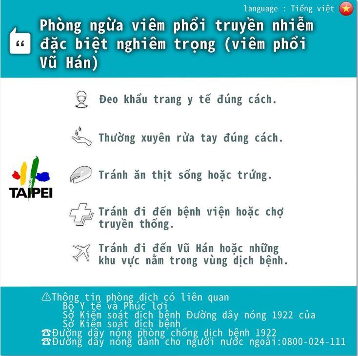 Phương pháp dự phòng viêm phổi Vũ Hán