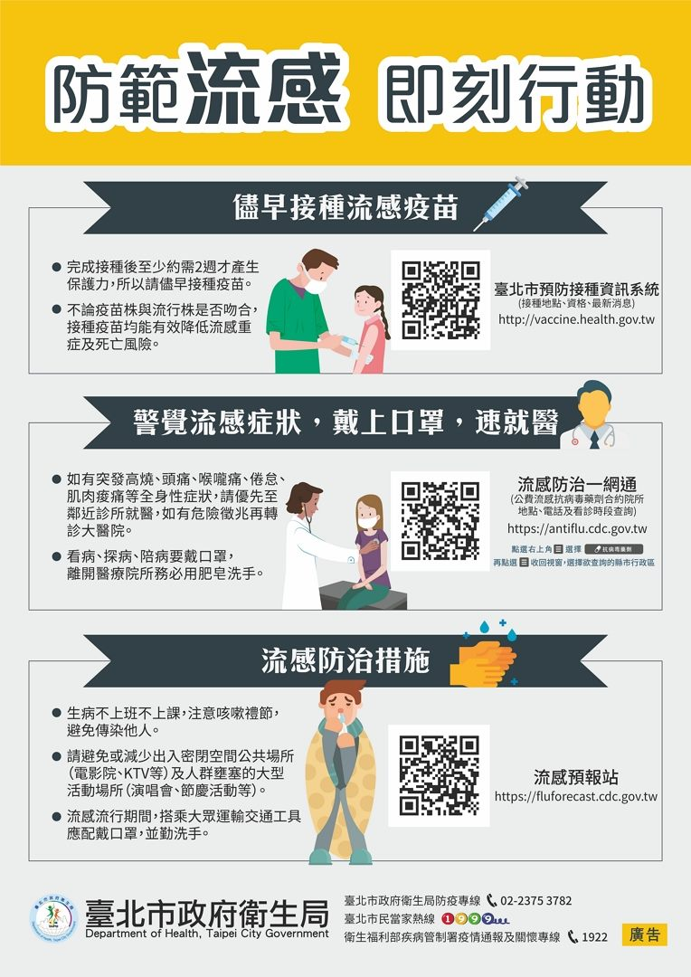 防範流感海報