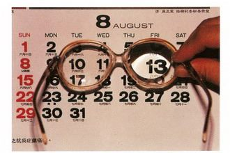 普通眼鏡的配戴使影像放大視野變窄