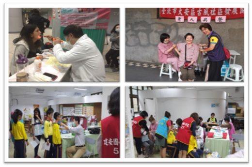 社區流感、院內流感與校園流感接種現況