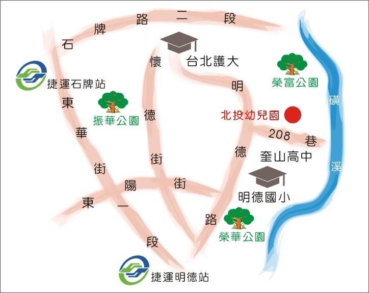 北投幼兒園地圖