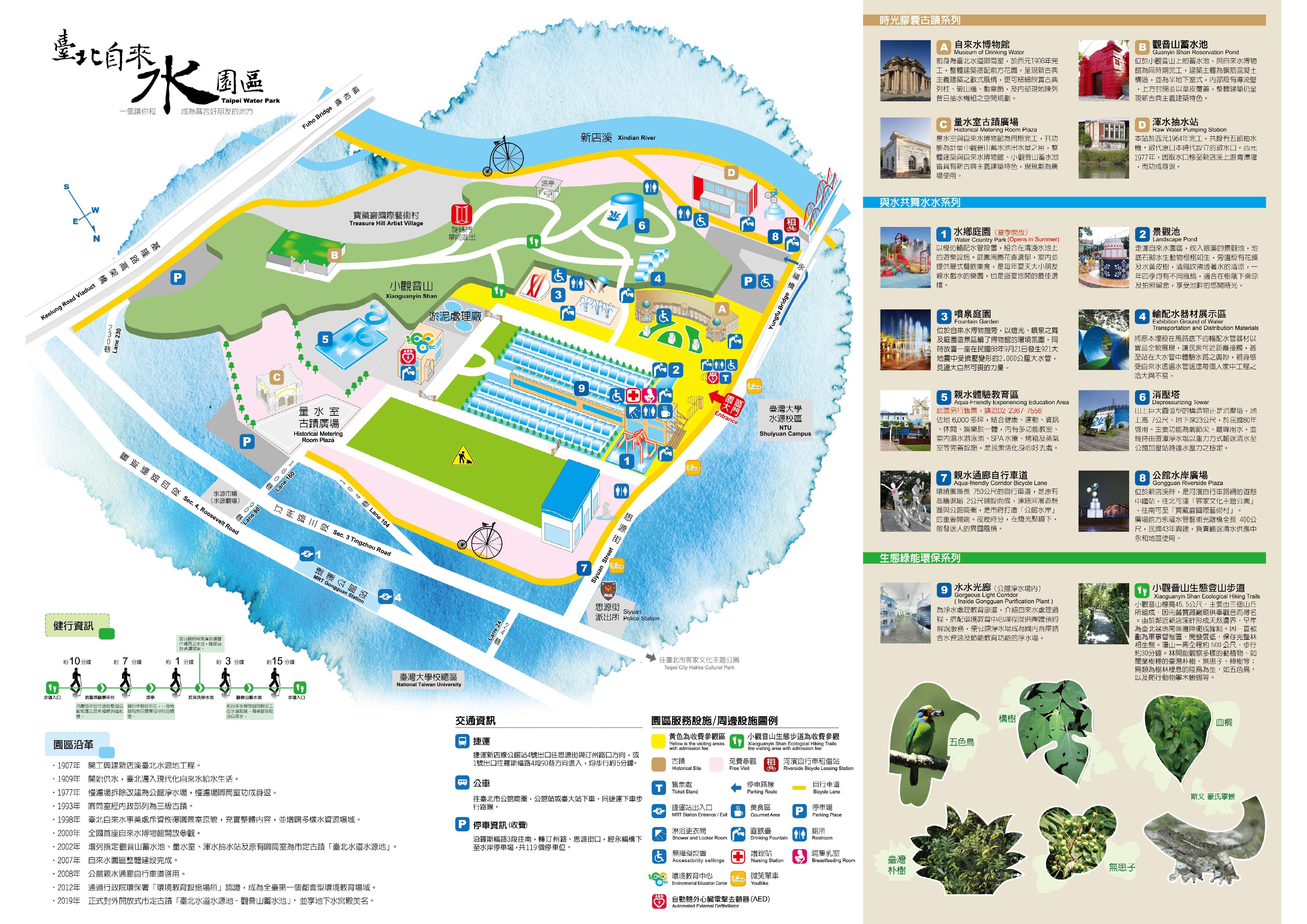 自來水園區導覽地圖