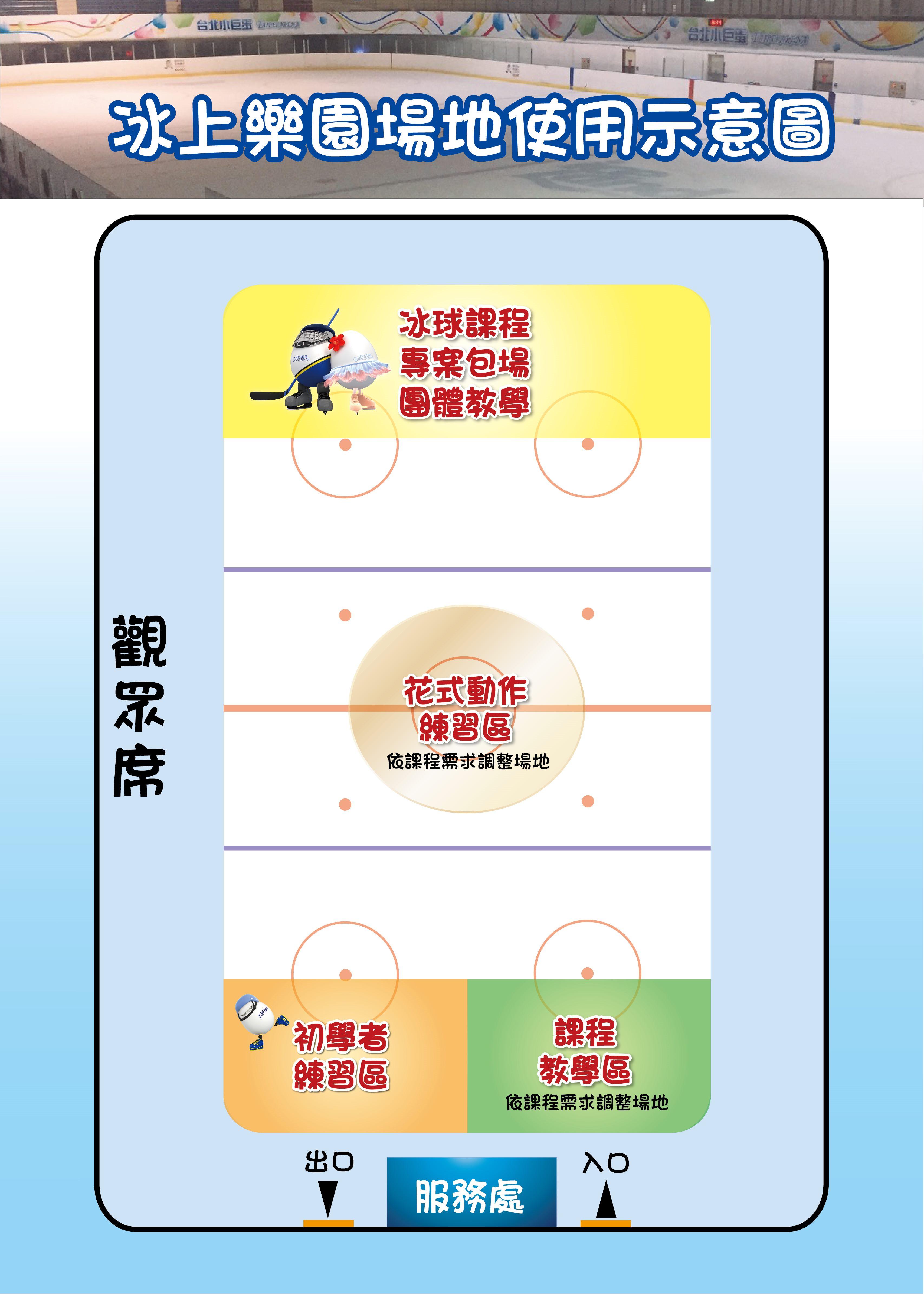臺北小巨蛋冰上樂園場地使用是意圖