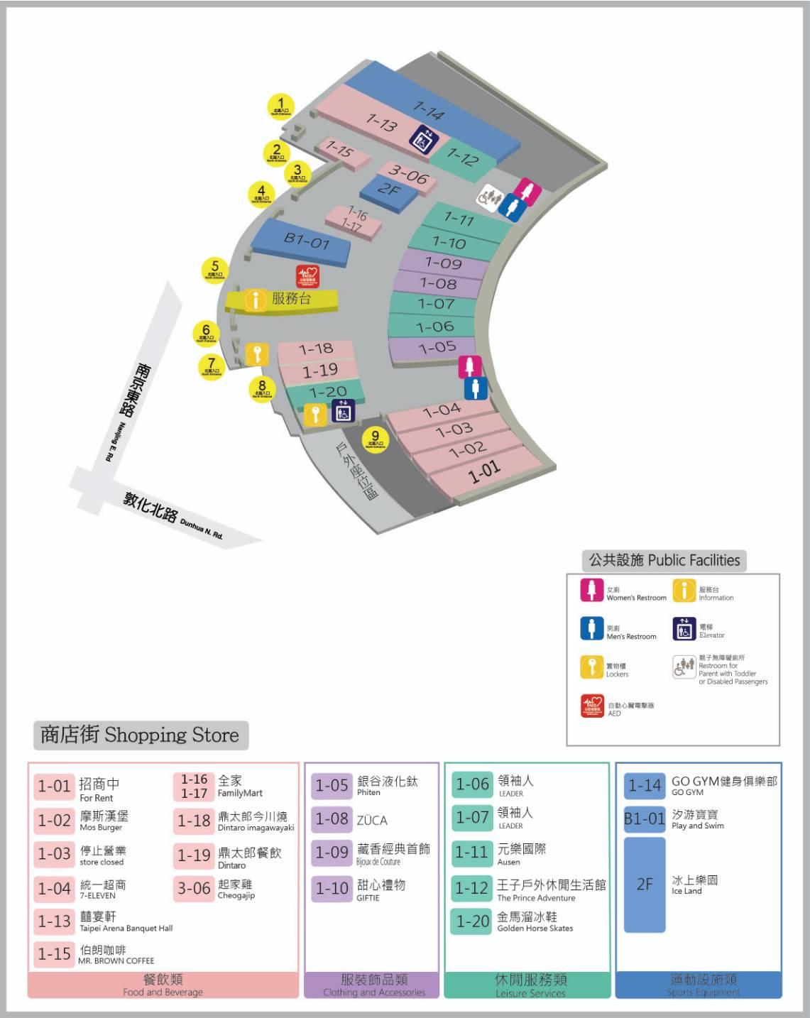 商店街中文地圖