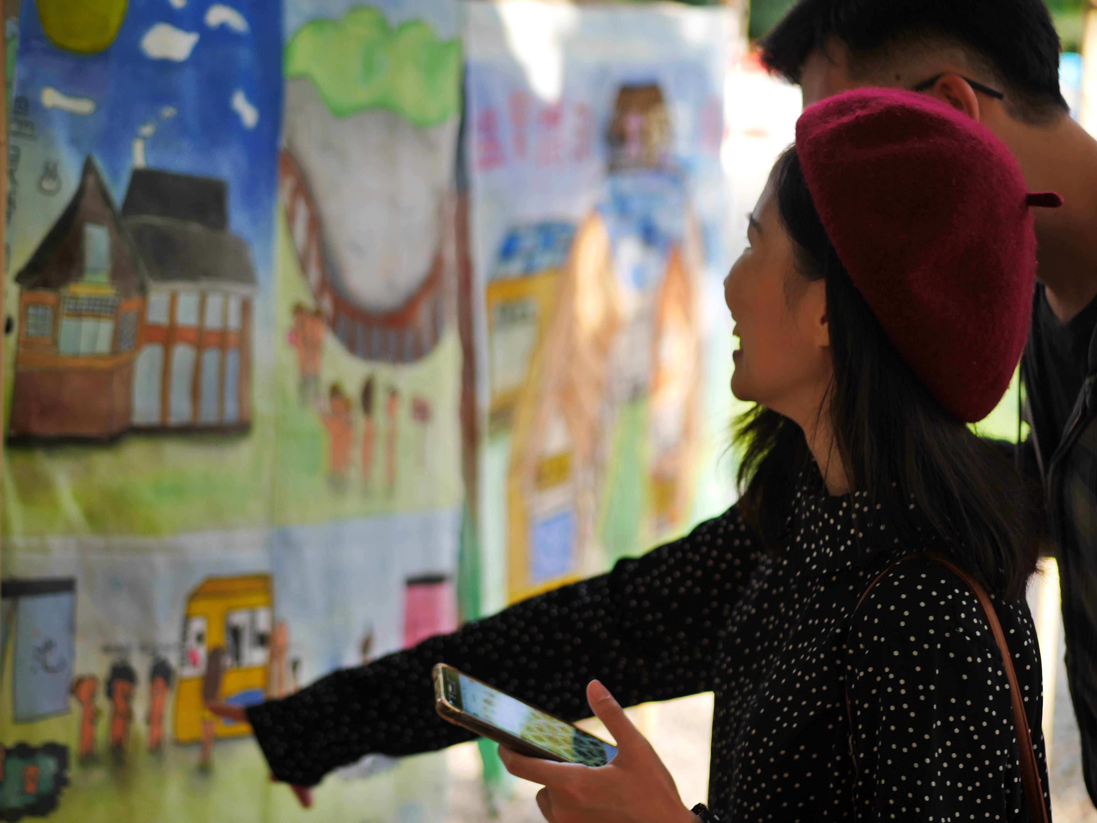 社區兒童畫作