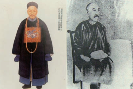 Left: Portrait of Shen Bao-zhen; Right: Portrait of Liu Ming-chuan