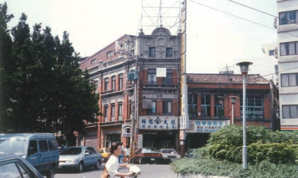 Ancient buildings from the bustling Shilin District in 1990s